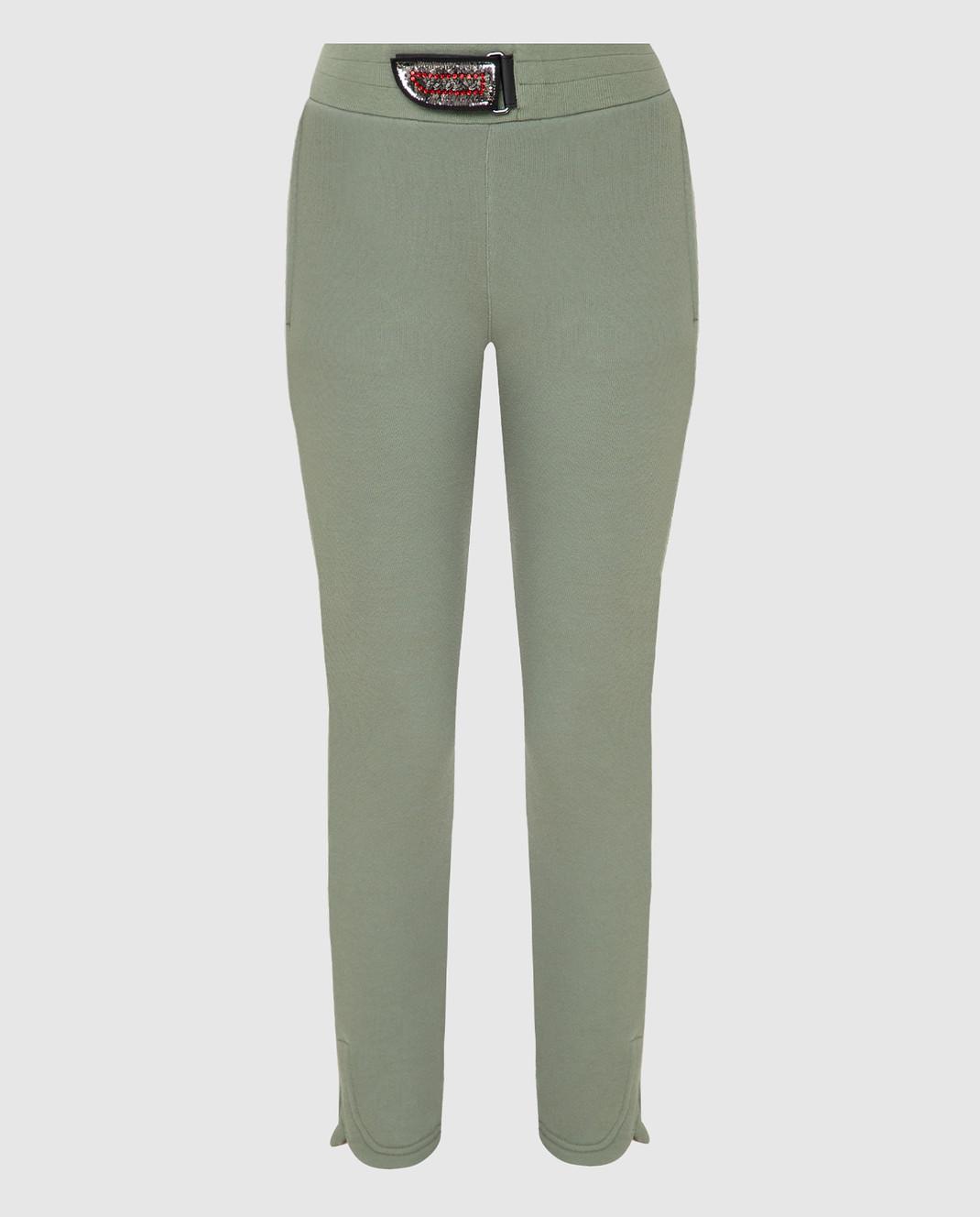 Mr&Mrs Italy Зеленые спортивные брюки JG054E