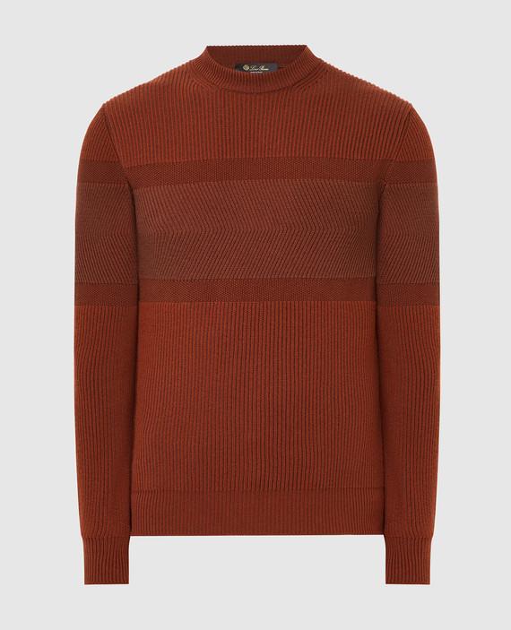 Терракотовый свитер из кашемира