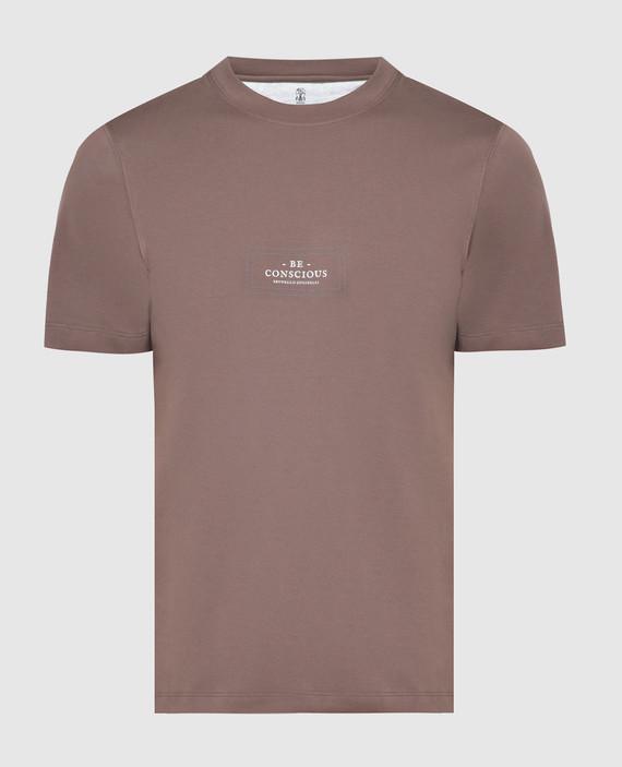 Коричневая футболка