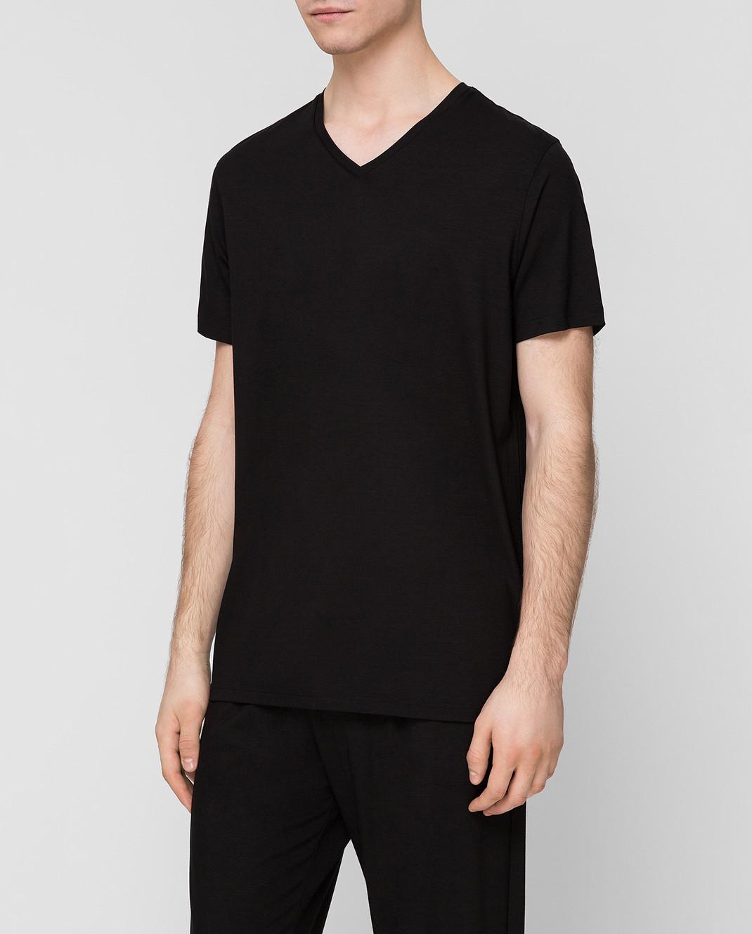 Derek Rose Черная футболка 3083BASE001 изображение 3