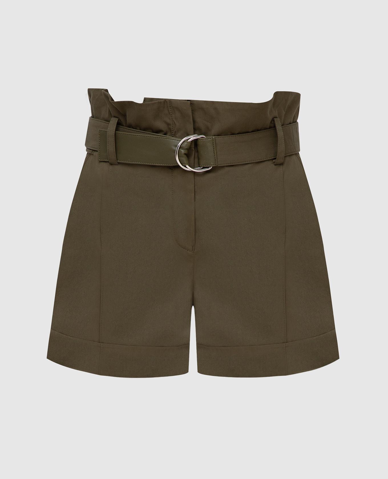 Зеленые шорты Yves Salomon