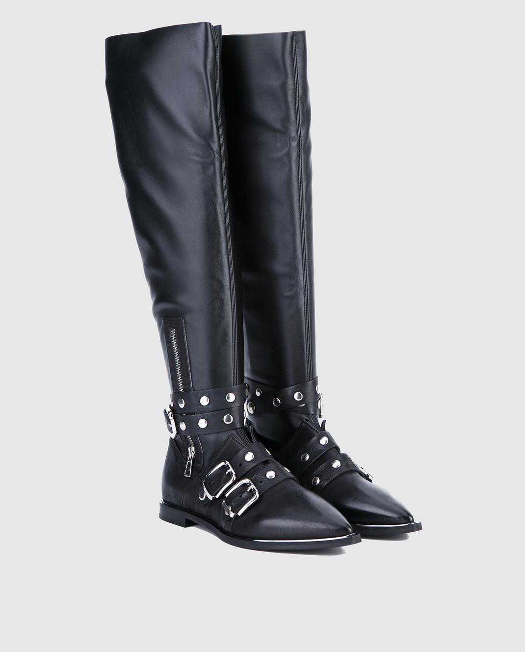 Fru it Черные кожаные сапоги 4865 изображение 2