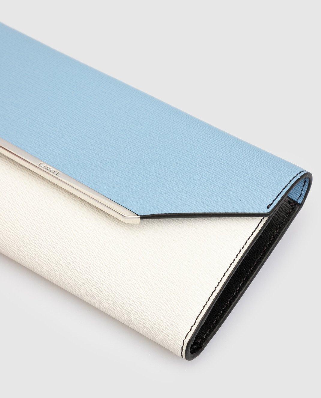 Lancel Голубой кожаный кошелек A07676 изображение 4