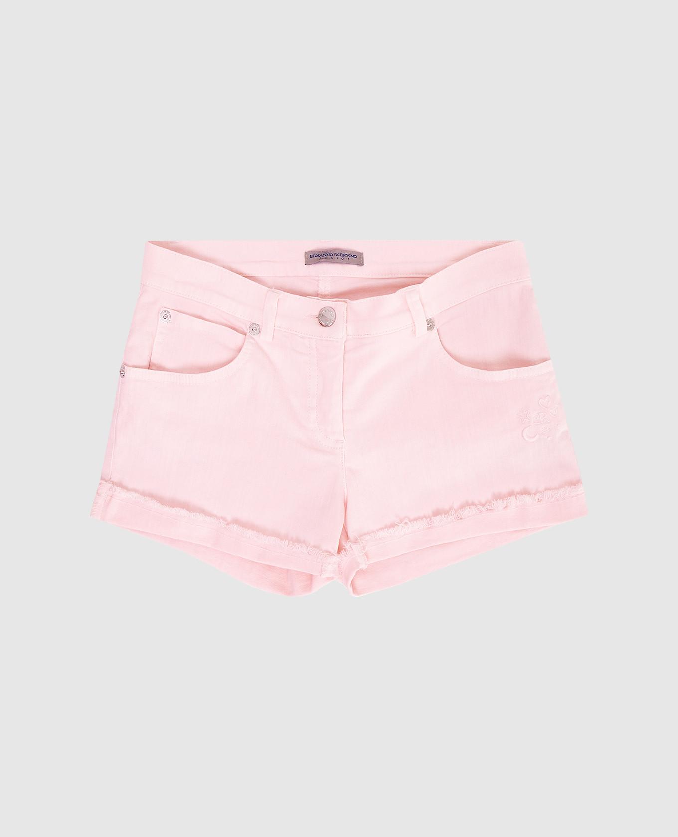 Детские розовые шорты