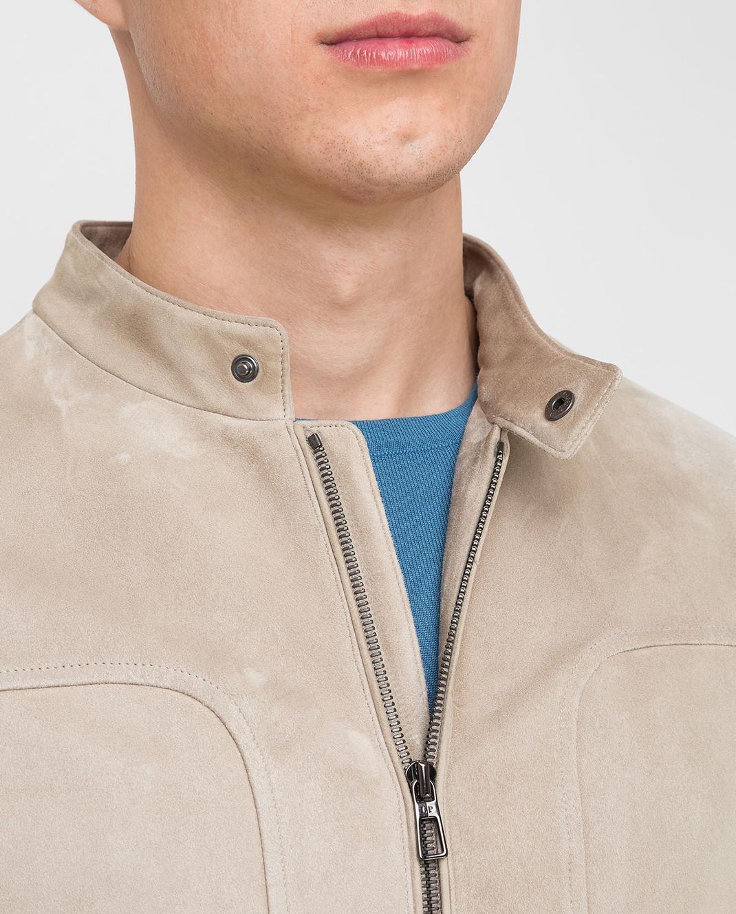 Loro Piana Светло-бежевая замшевая куртка F1FAG1790 изображение 5