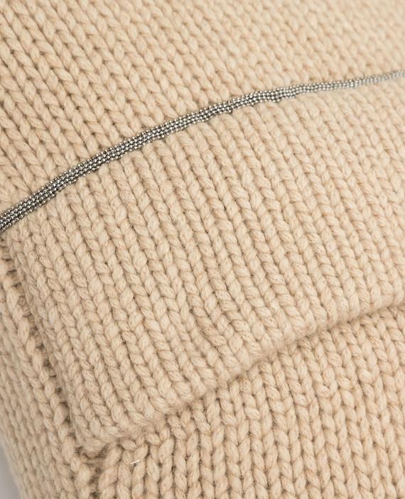 Бежевая подушка из кашемира hover