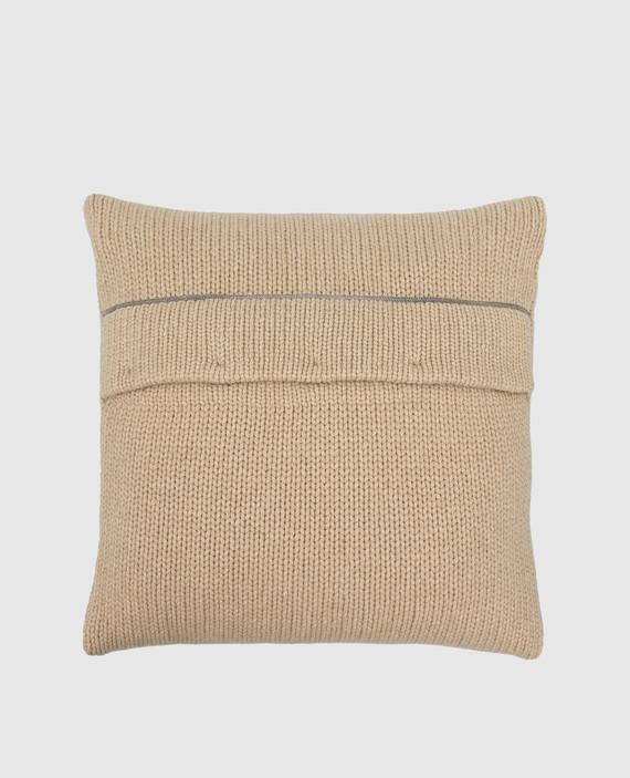 Бежевая подушка из кашемира