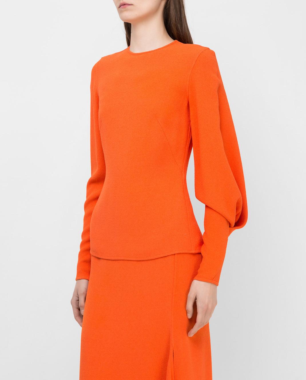 Victoria Beckham Оранжевая блуза TPLNG1339 изображение 3