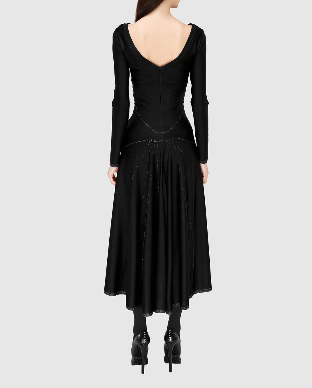 Azzedine Alaia Черное платье с V-образным вырезом на спине 6H9RG99LM288 изображение 4