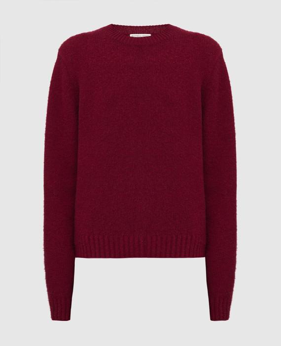 Бордовый свитер из шерсти