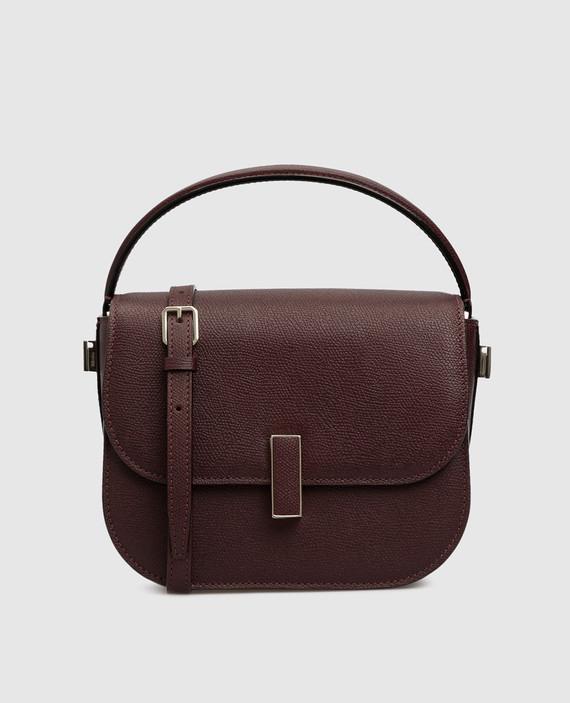 Темно-бордовая кожаная сумка