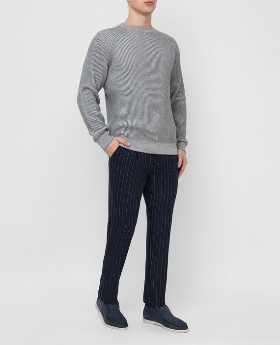 Темно-синие брюки hover