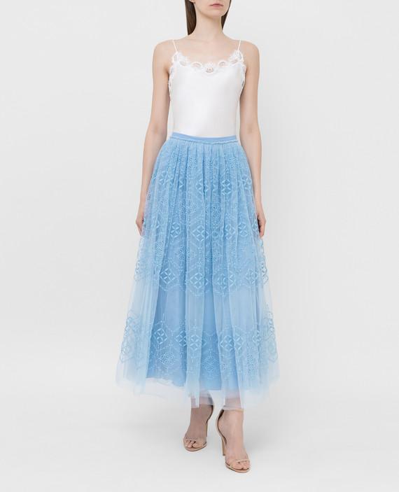 Голубая юбка hover