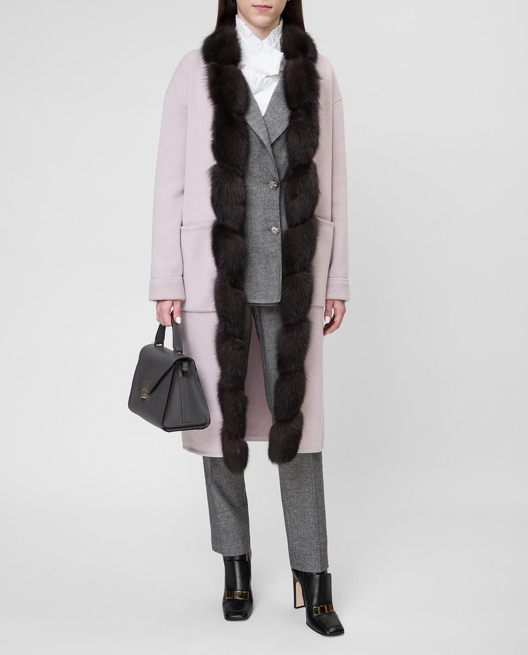 Real Furs House Пудровое пальто CSR01 изображение 2