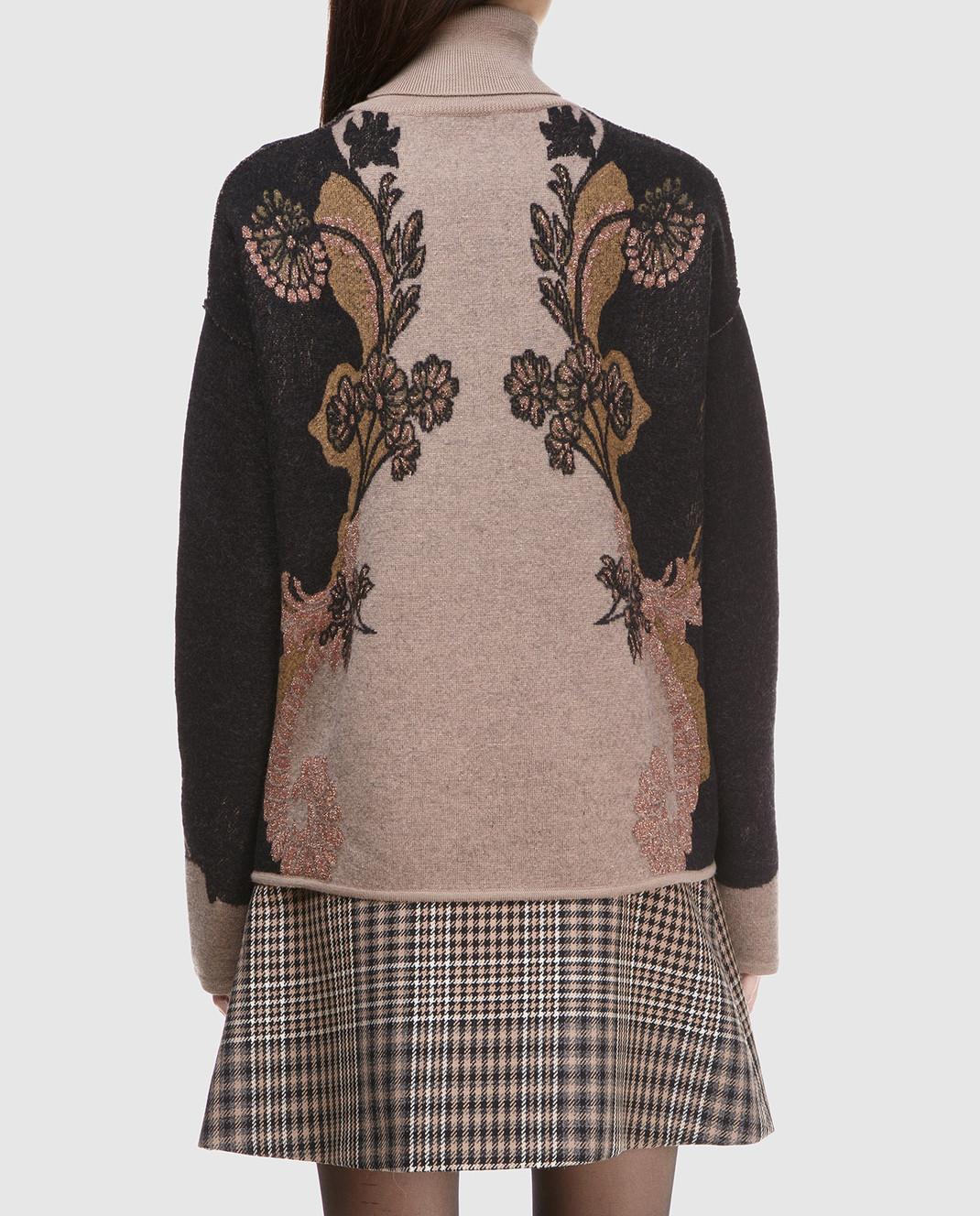 Etro Коричневый свитер из шерсти D156239303 изображение 4