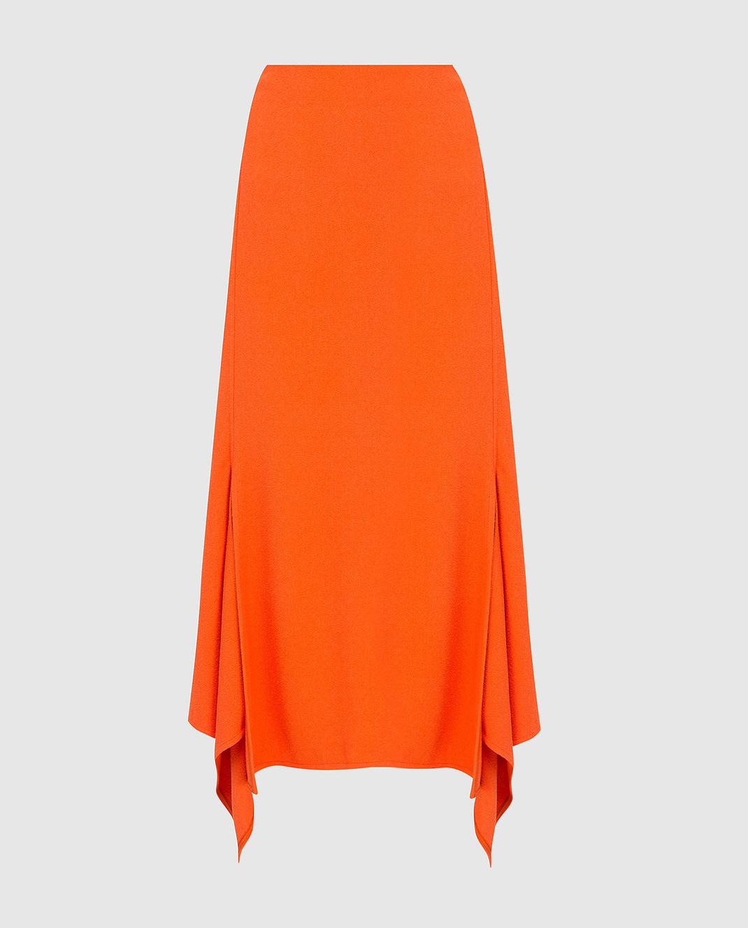 Victoria Beckham Оранжевая юбка SKMID3315