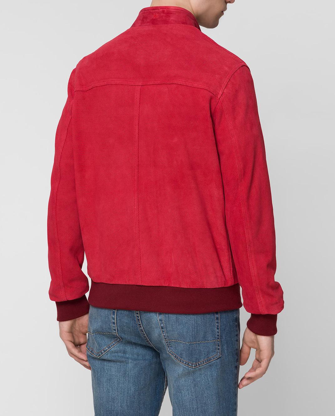 ISAIA Бордовая замшевая куртка LWT017PLW03 изображение 4