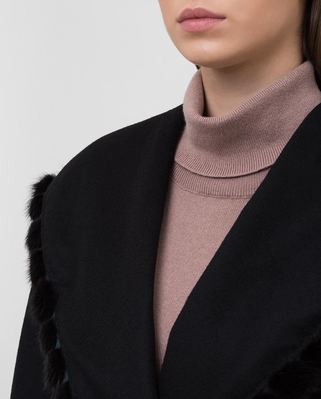 Heresis Черное пальто из шерсти M33130VIF260 изображение 5