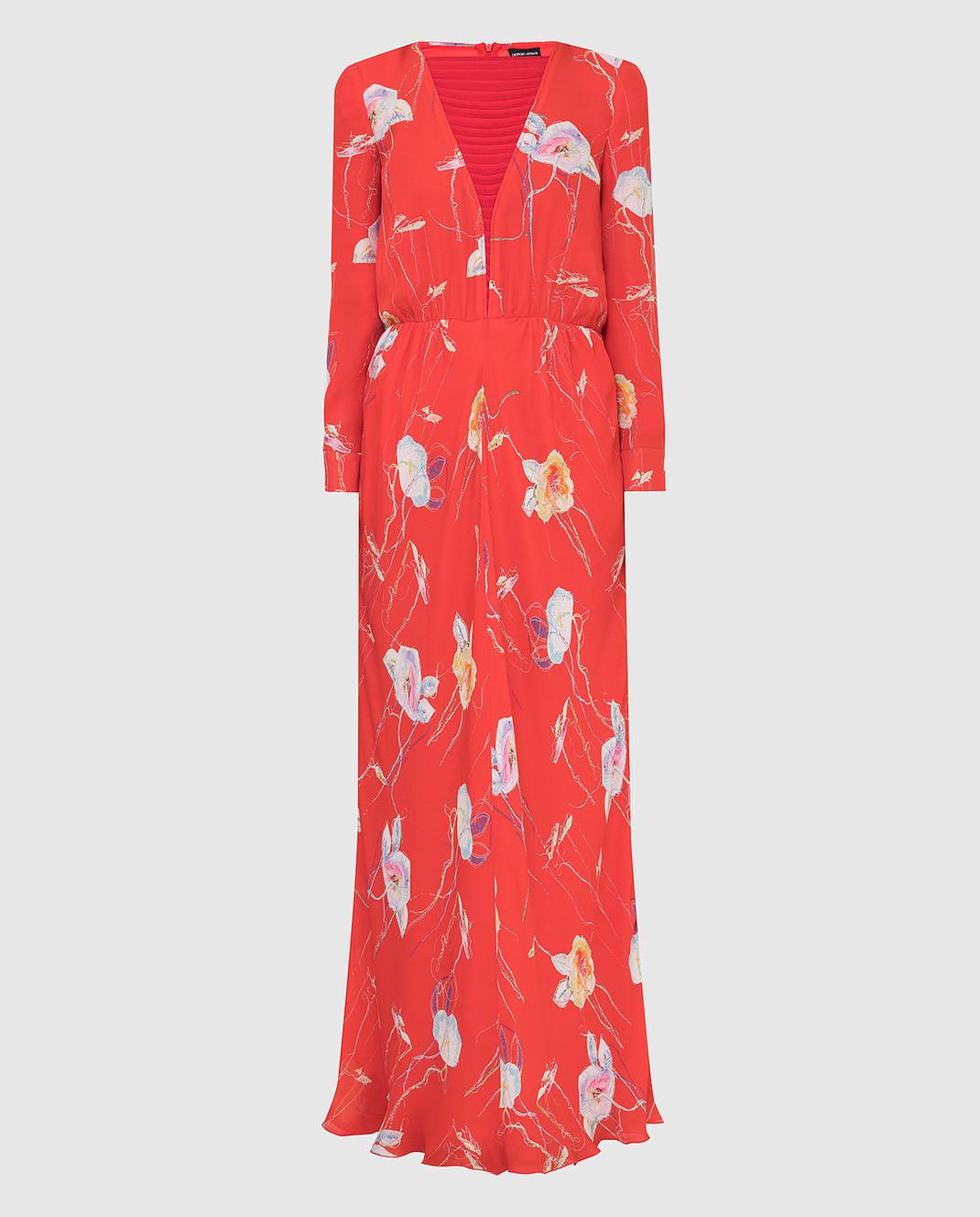 Armani Коралловое платье из шелка изображение 1
