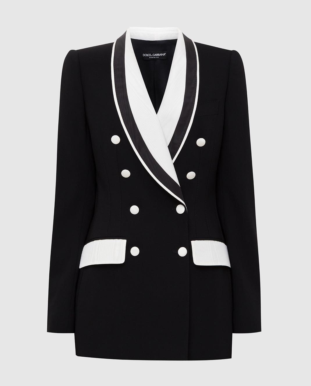 Dolce&Gabbana Черный жакет из шерсти изображение 1