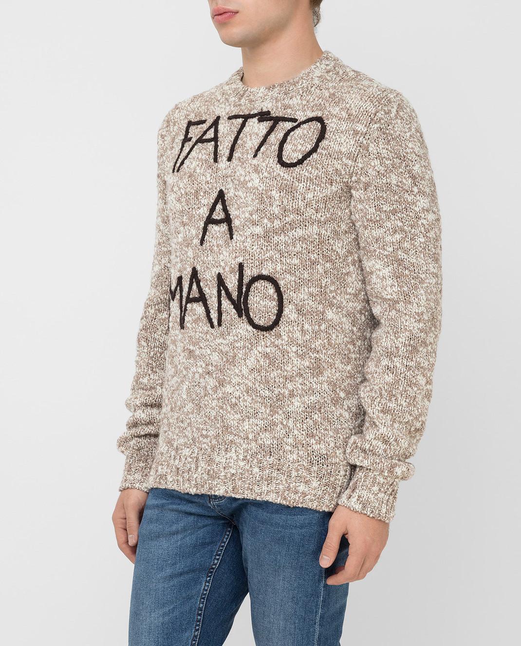 Dolce&Gabbana Бежевый свитер из шерсти изображение 3