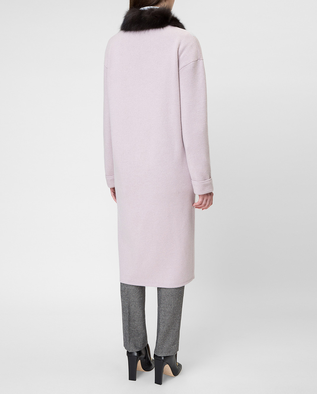 Real Furs House Пудровое пальто CSR01 изображение 4