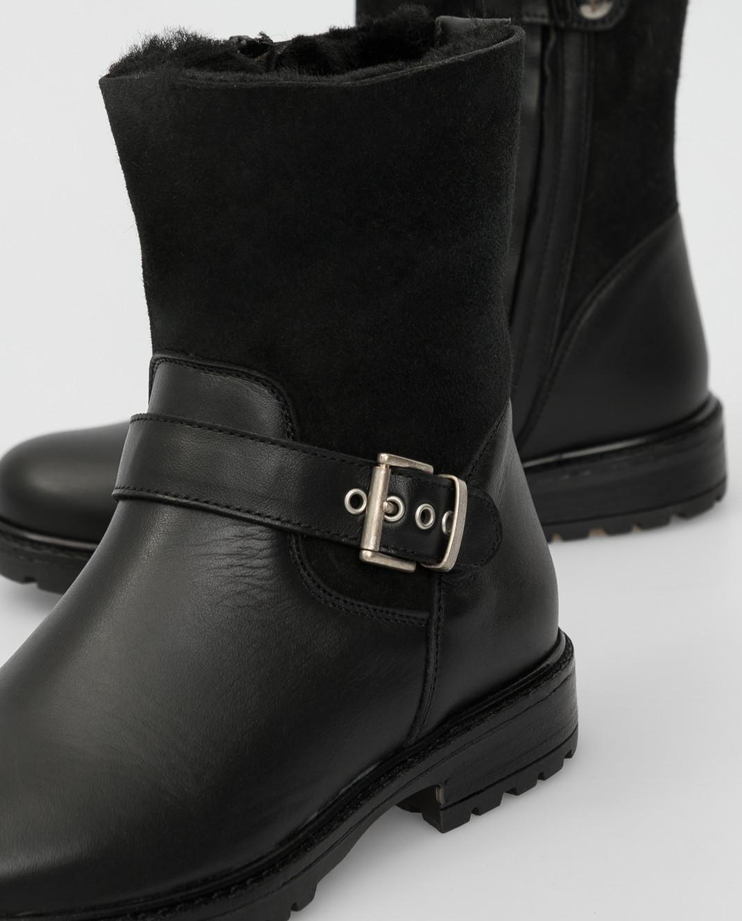 Zecchino D'oro Детские черные сапоги F0242563032 изображение 4
