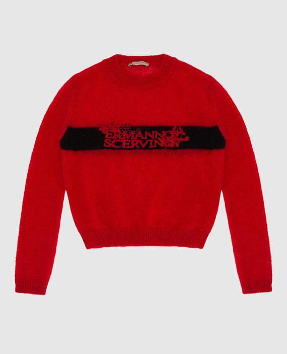 Детский красный свитер
