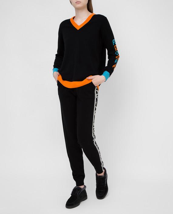 Черный пуловер из кашемира hover