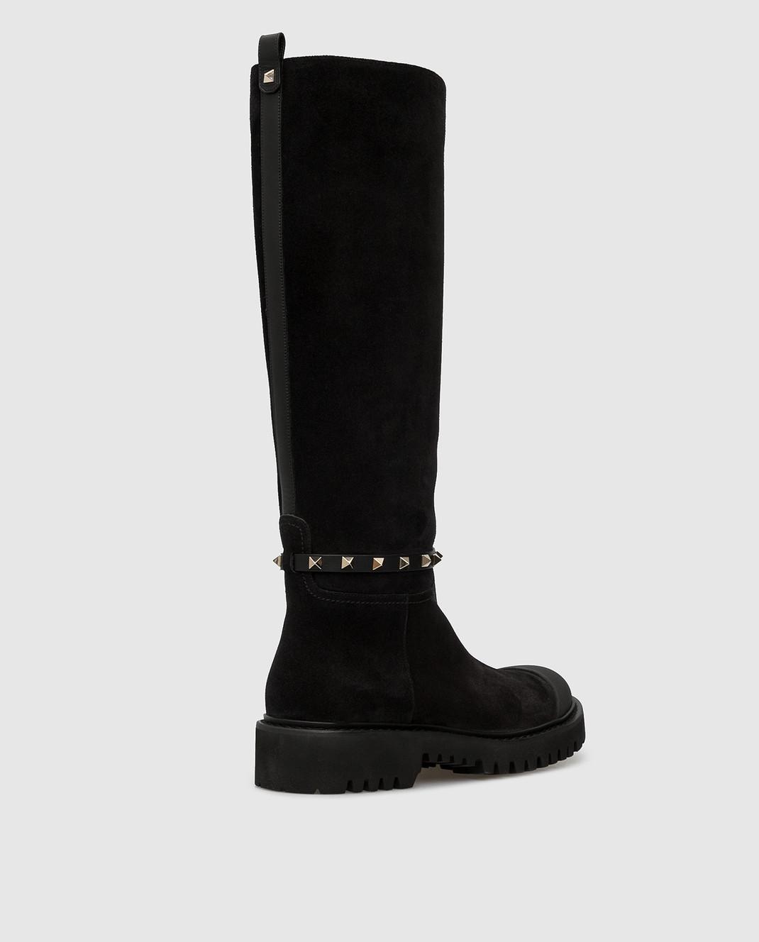 Valentino Черные замшевые сапоги SW0S0S20IFW изображение 4