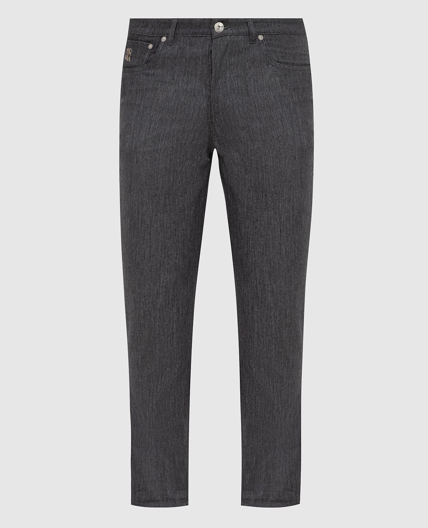 Серые брюки из шерсти Brunello Cucinelli