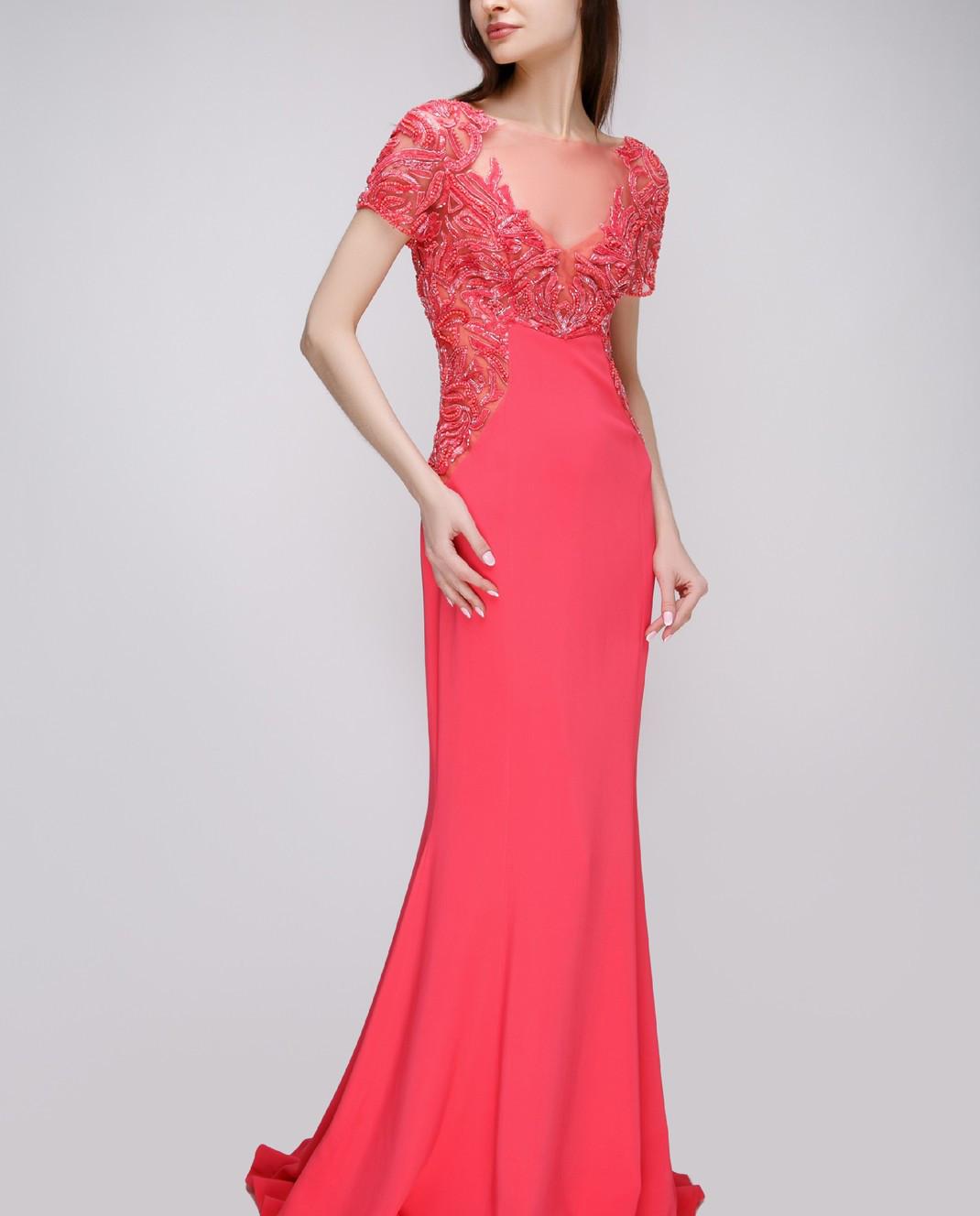Zuhair Murad Розовое платье RDPF15029DL99 изображение 2