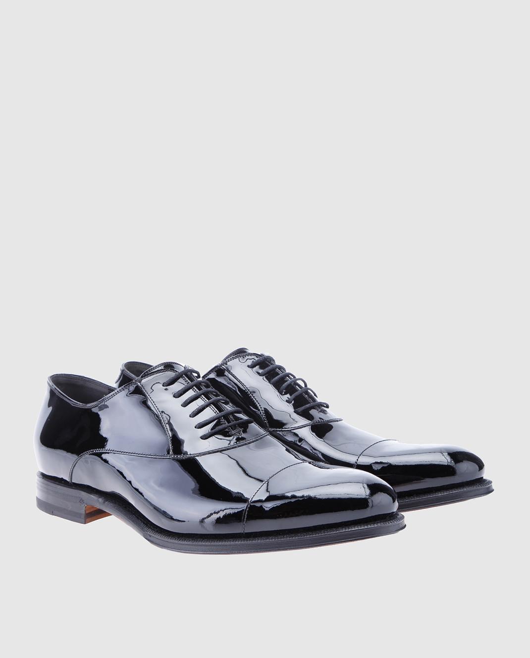Gucci Черные кожаные оксфорды 457144BNCR0 изображение 2