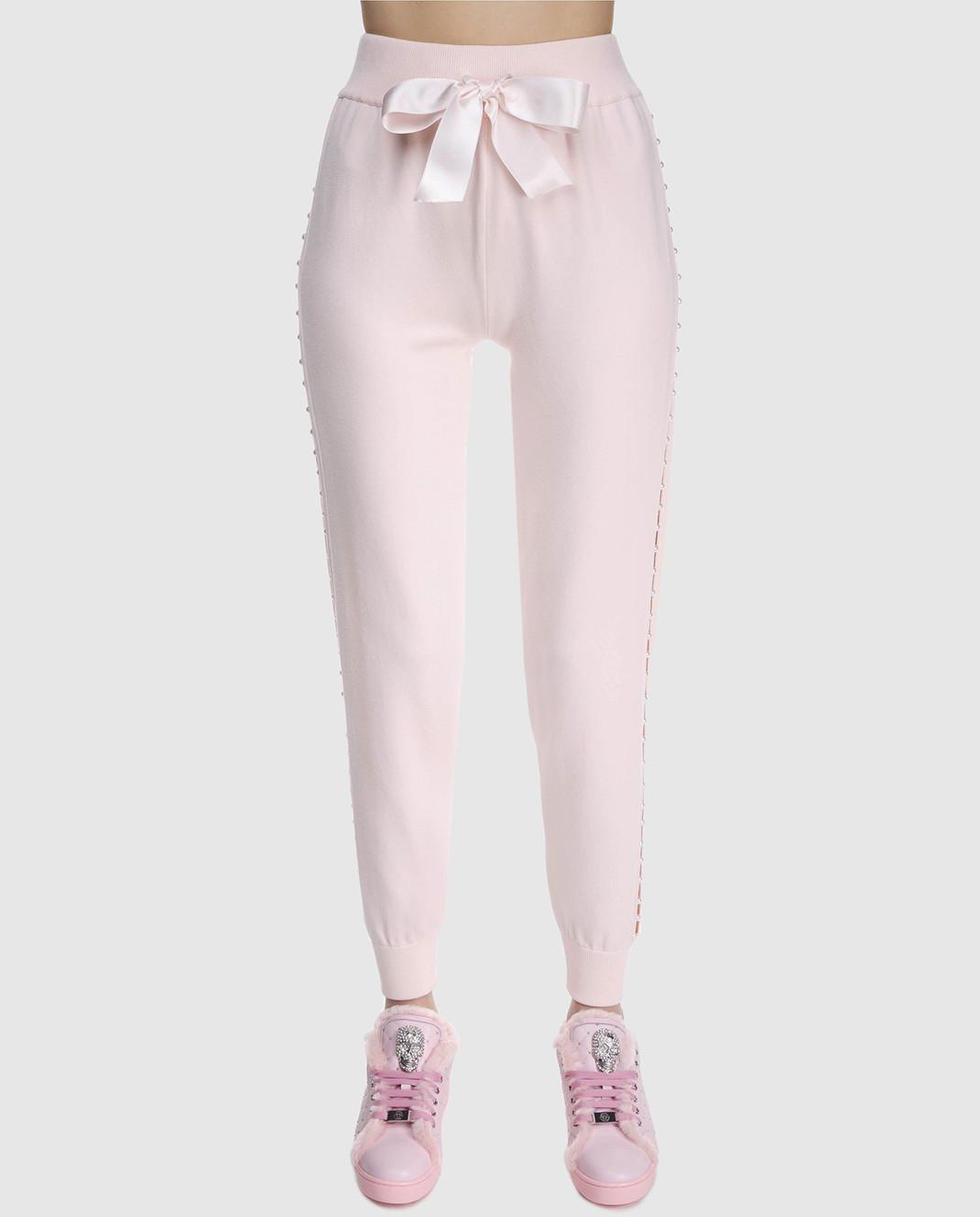 Philipp Plein Пудровые брюки WKT0034 изображение 3