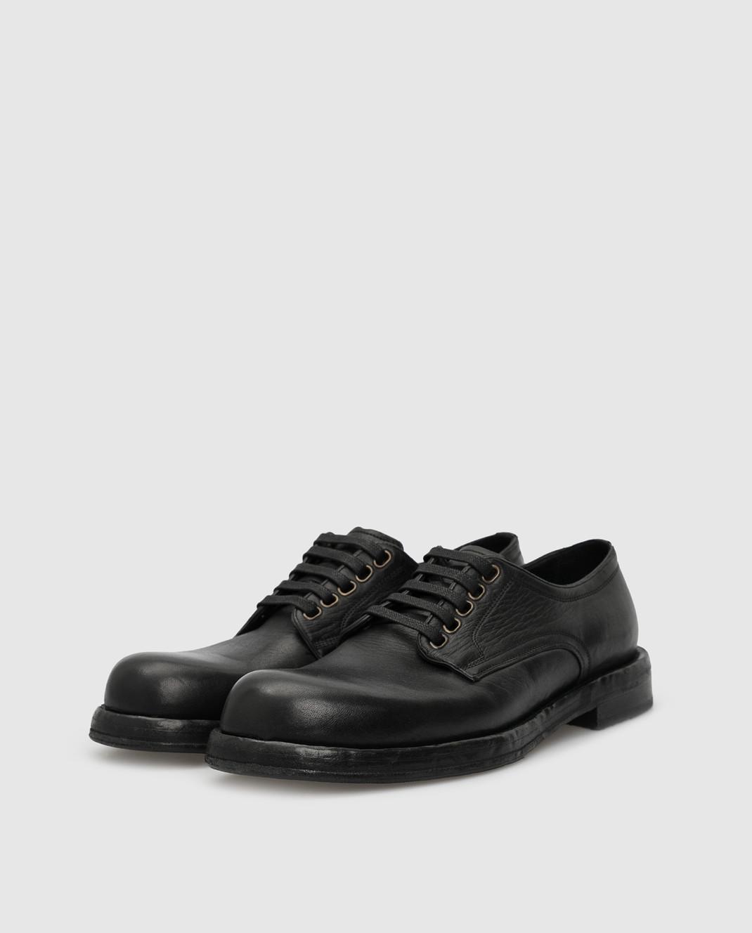 Dolce&Gabbana Черные кожаные дерби изображение 3