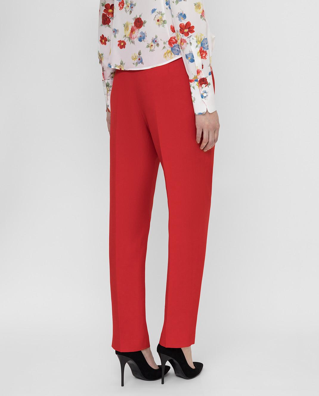 Ermanno Scervino Красные брюки D366P300DIE изображение 4