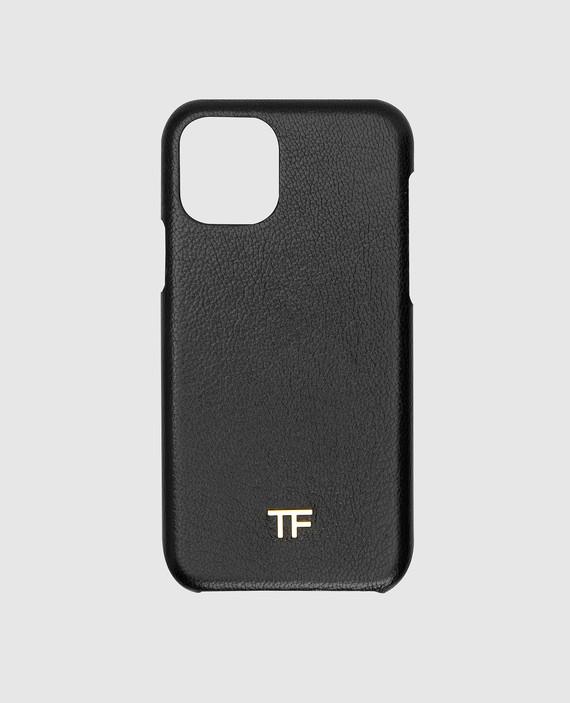 Черный кожаный чехол для iPhone 11 Pro