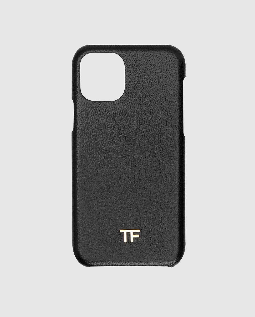 Tom Ford Черный кожаный чехол для iPhone 11 Pro изображение 1
