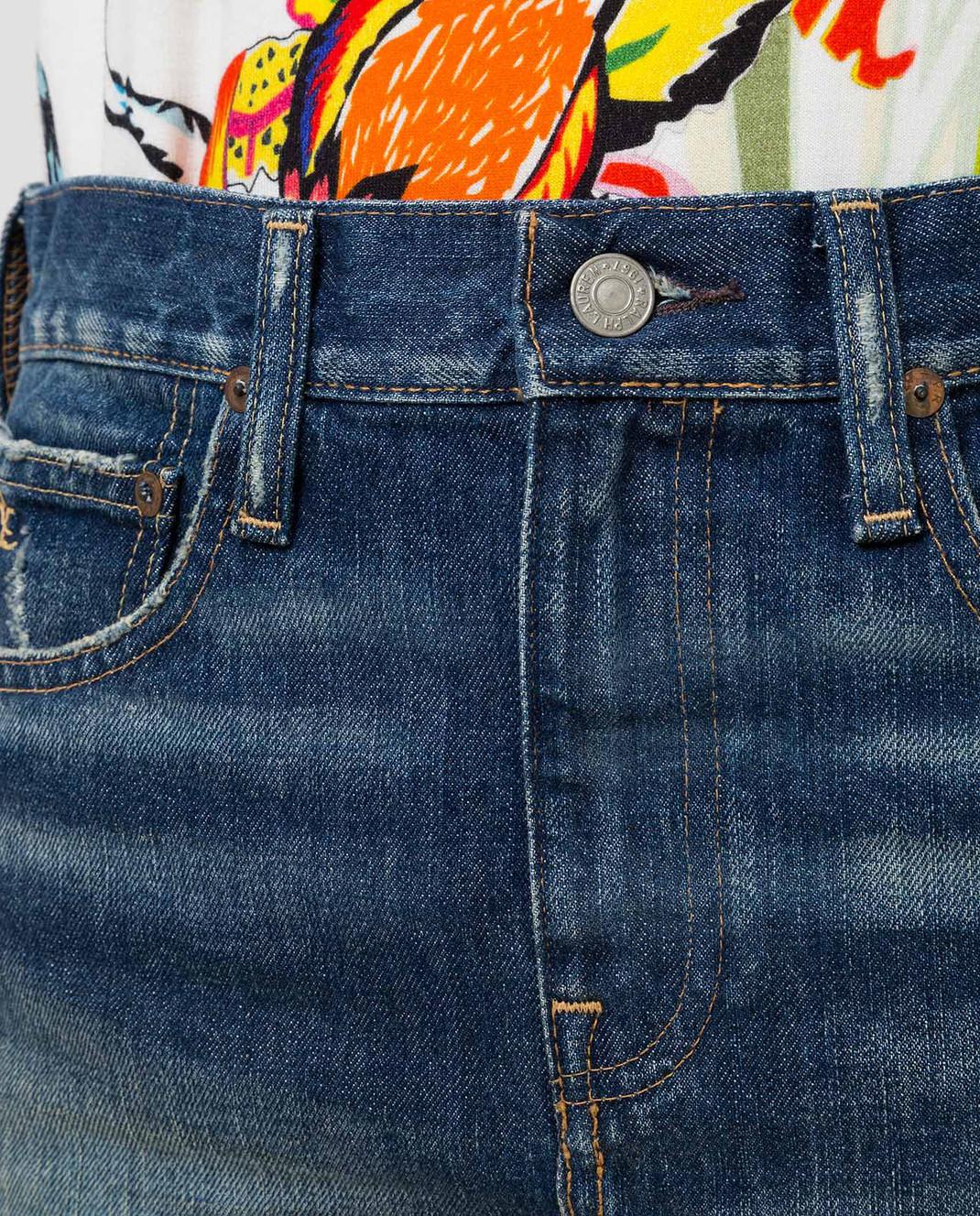 Ralph Lauren Синяя джинсовая юбка V60IH924 изображение 5