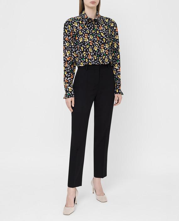Черная блуза из шелка hover