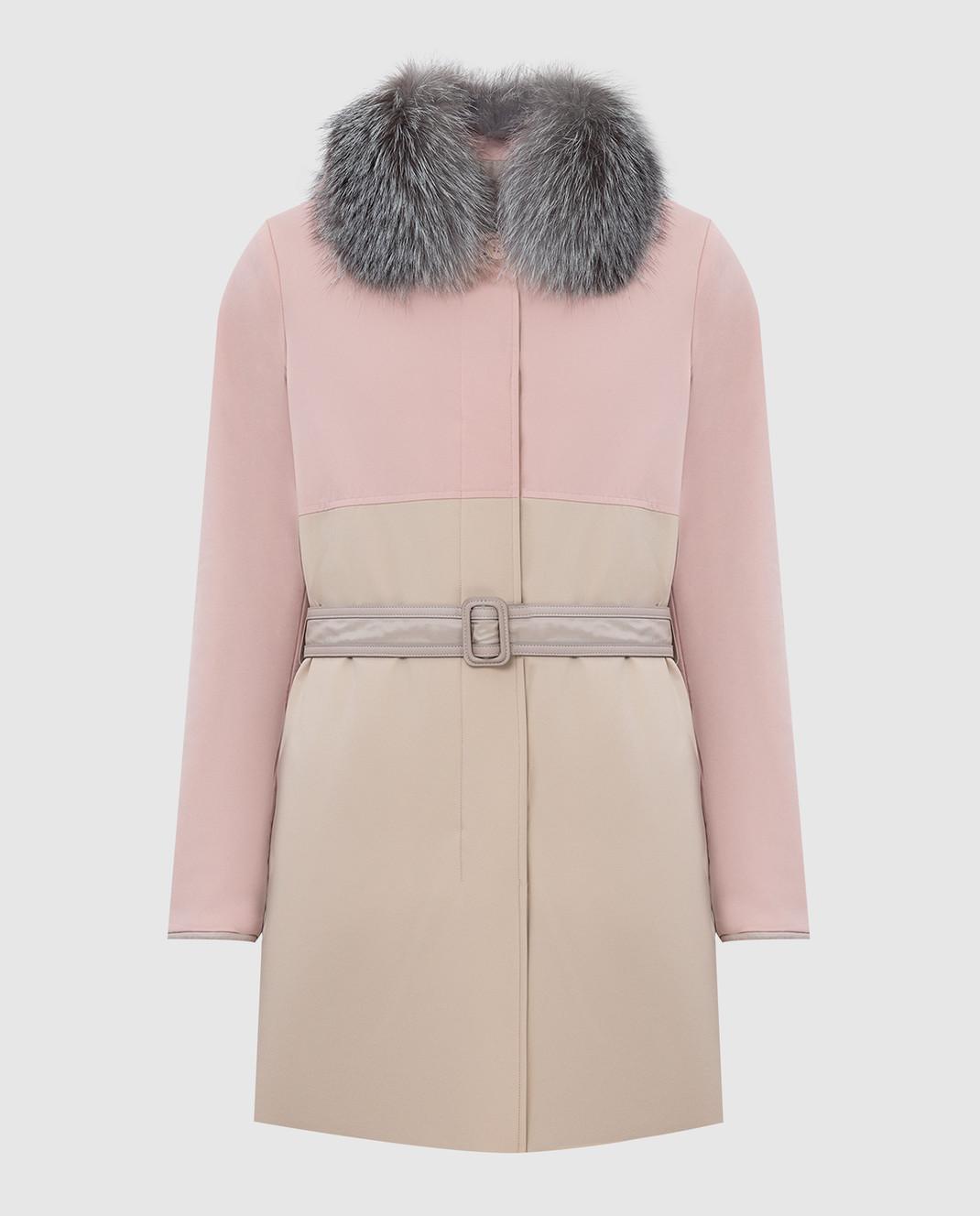 Loro Piana Двусторонняя куртка с воротником из меха лисицы F1FAI2541