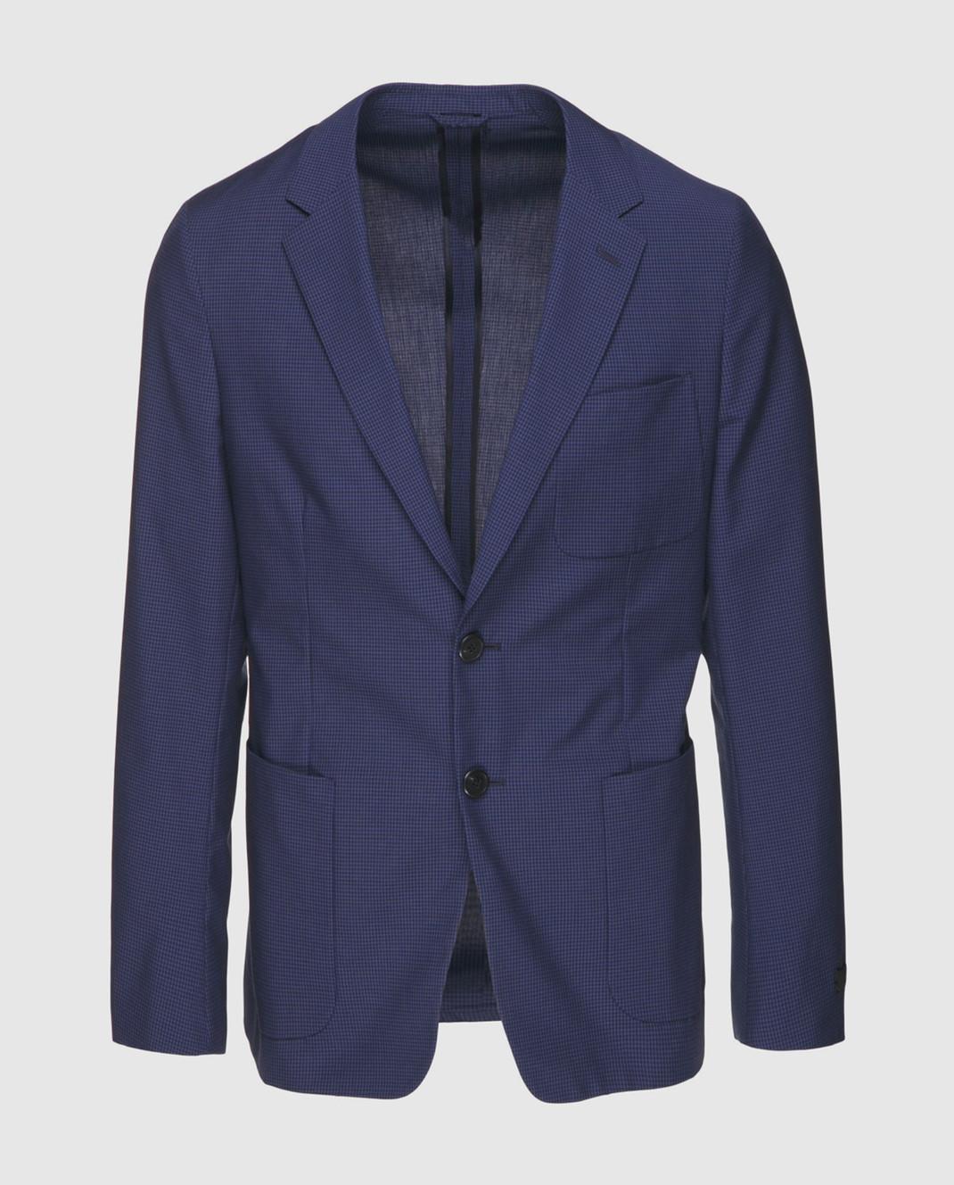 Prada Синий пиджак UGF003
