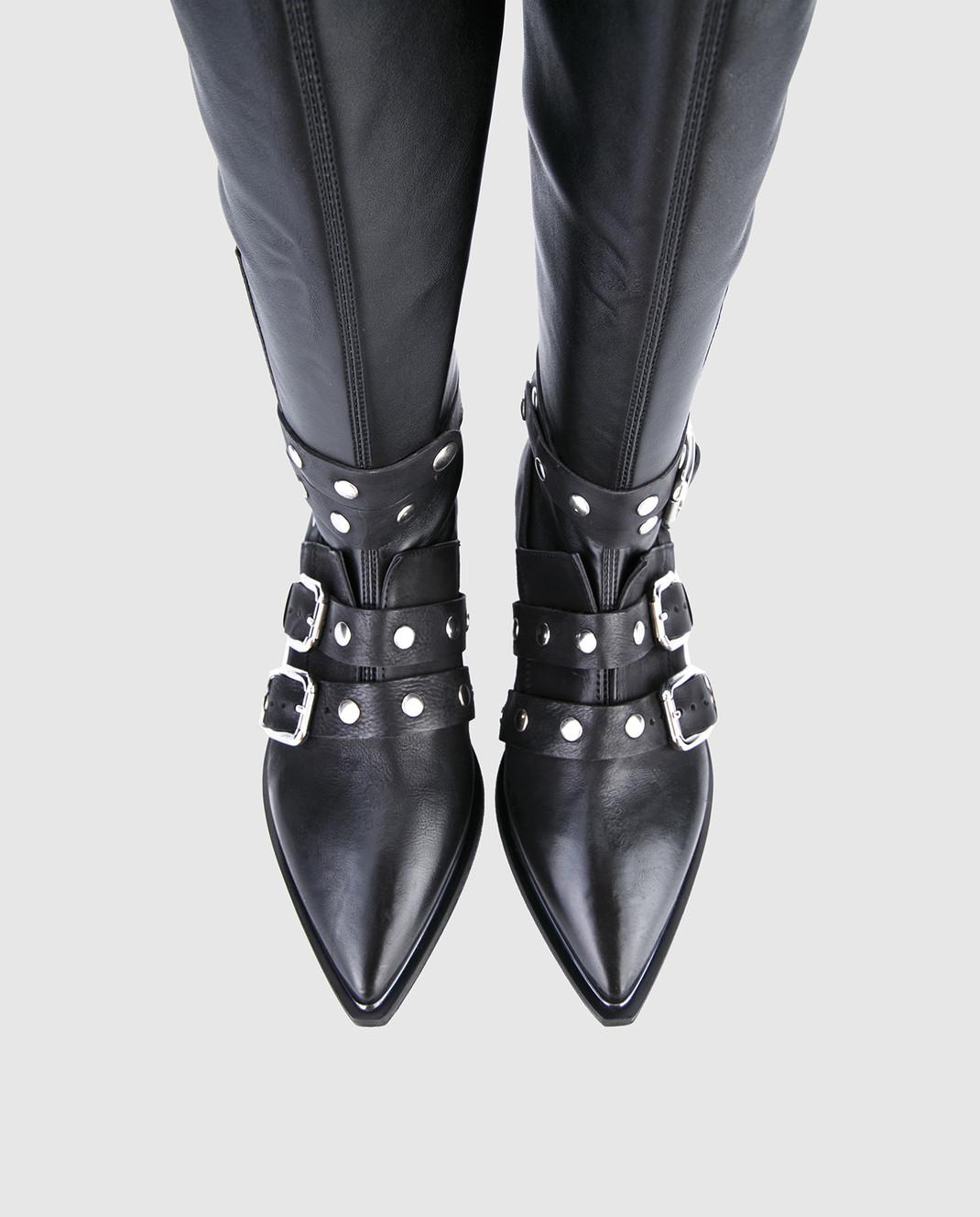Fru it Черные кожаные сапоги 4865 изображение 4