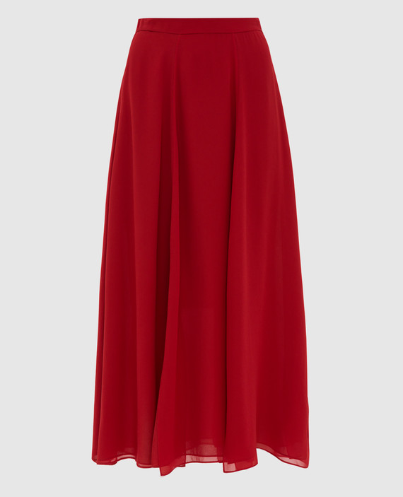 Красная юбка из шелка