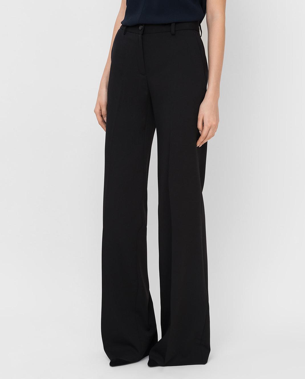 Roberto Cavalli Черные брюки из шерсти DWT211 изображение 3
