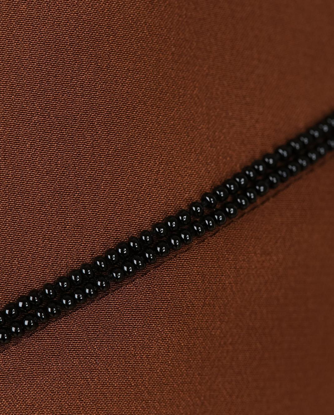 NINA RICCI Терракотовое платье из шелка 17PCRO040SE0801 изображение 5