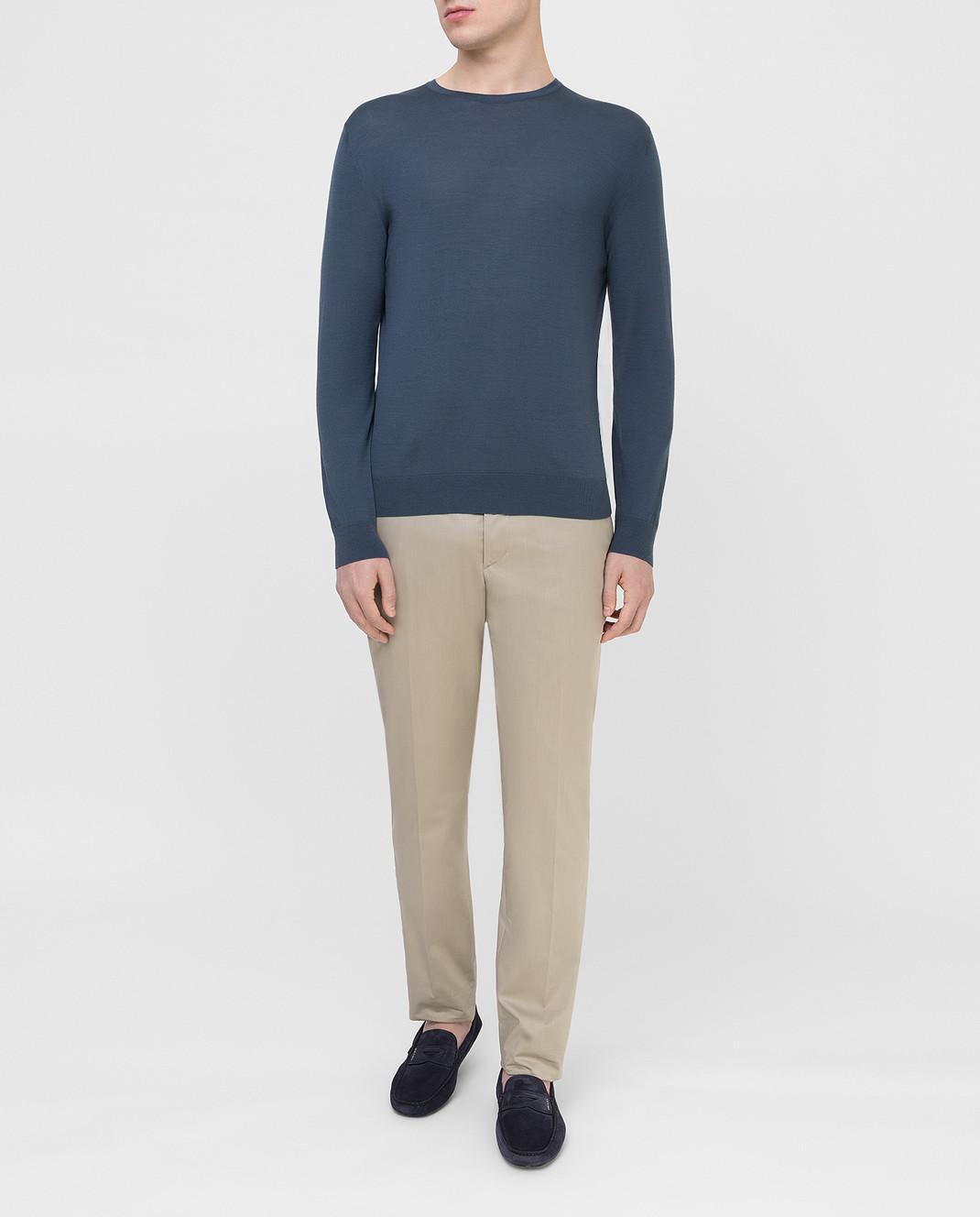 Prada Серые брюки UPA8411VSD изображение 2