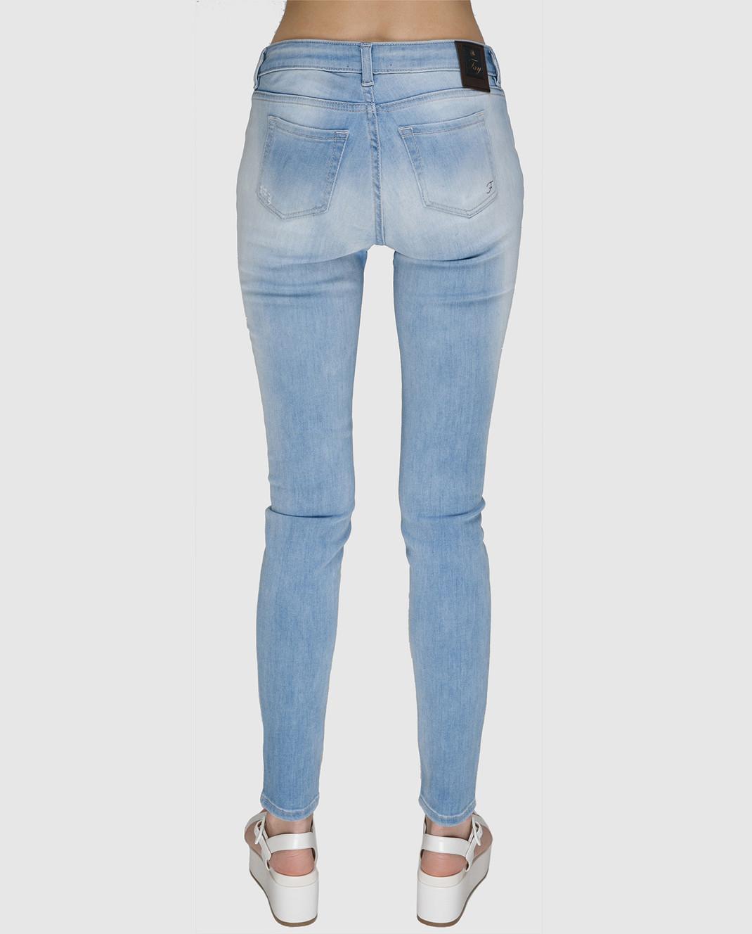 FAY Голубые джинсы NTW8234524LOJN изображение 4