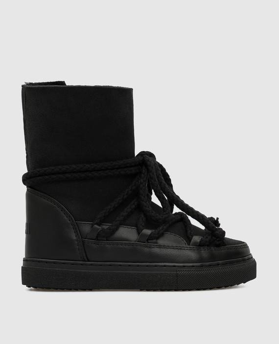 Детские черные ботинки