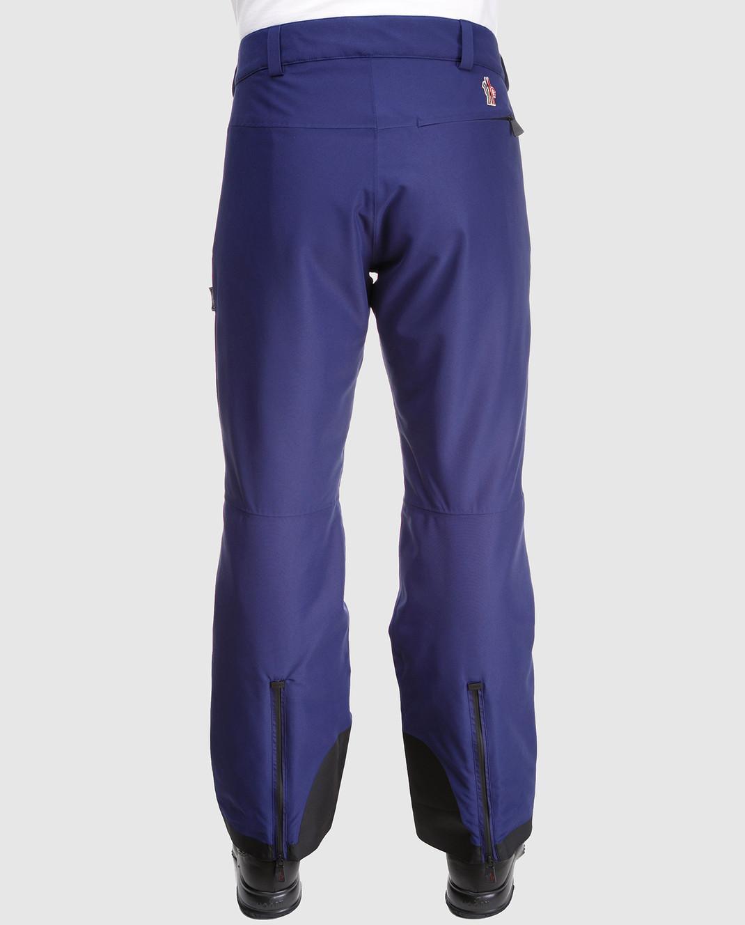 Moncler Grenoble Синие лыжные брюки 11410 изображение 4
